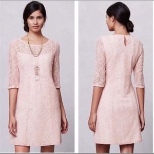 Anthropologie Maeve Lefkara lace dress w/pockets